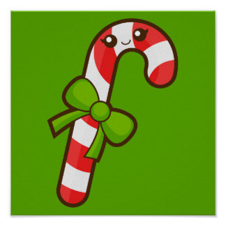 Christmas Candy Cane Poster