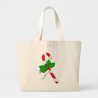 Christmas Candy Cane - Red Canvas Bags