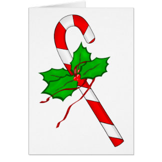 Christmas Candy Cane - Red Card