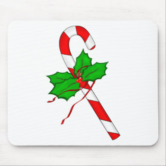 Christmas Candy Cane - Red Mouse Pad