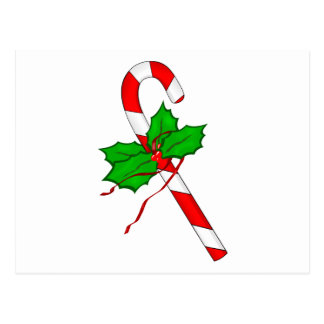 Christmas Candy Cane - Red Postcard