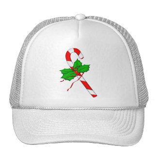 Christmas Candy Cane - Red Trucker Hat