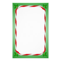 Christmas Candy Cane Stationery