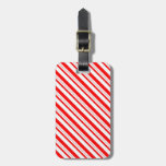 Christmas Candy Cane Striped Luggage Tag