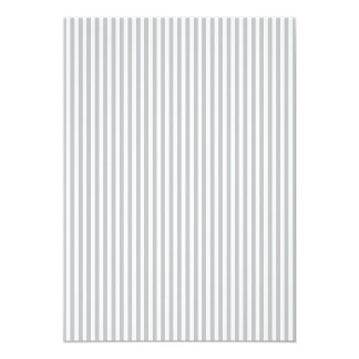 Christmas Candy Cane Stripes in White and Silver 5x7 Paper Invitation Card