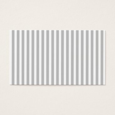 Disney Themed Christmas Candy Cane Stripes in White and Silver Business Card