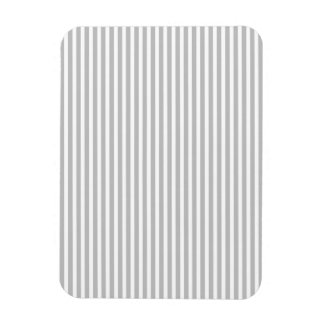 Christmas Candy Cane Stripes in White and Silver Magnet