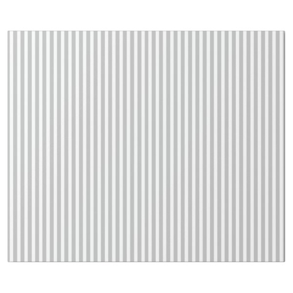Christmas Candy Cane Stripes in White and Silver Wrapping Paper