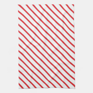 Christmas Candy Cane Stripes Pattern Towel