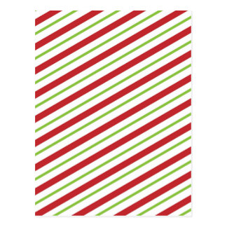 Christmas Candy Cane Stripes Postcard