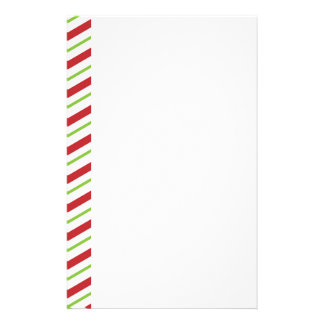 Christmas Candy Cane Stripes Stationery