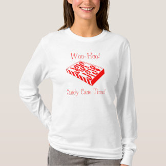 Christmas Candy Cane Time Ladies LS T-Shirt