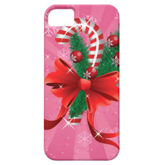 Christmas candy cane with bow 3 iPhone SE/5/5s case