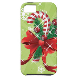 Christmas candy cane with bow 4 iPhone SE/5/5s case