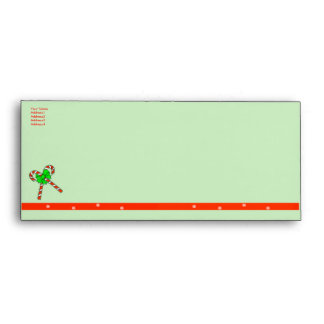 Christmas Candy Canes - #10 Envelope