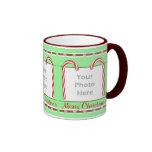 Christmas Candy Canes 3-Photo Frame Ringer Mug