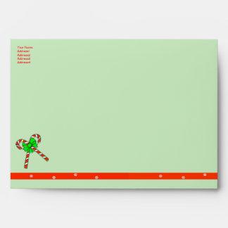 Christmas Candy Canes - A7 Envelopes