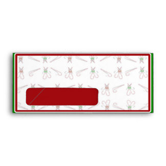 Christmas Candy Canes Background Envelope