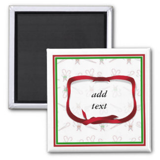Christmas Candy Canes Background Refrigerator Magnets