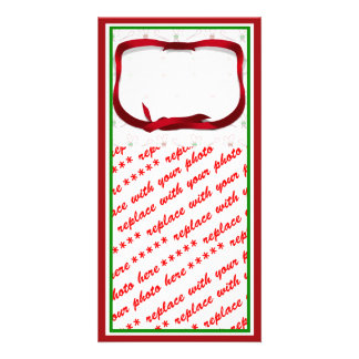 Christmas Candy Canes Background Photo Cards