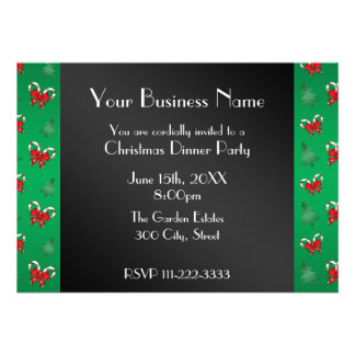 Christmas candy canes Business invitation