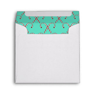 Christmas Candy Canes Envelope
