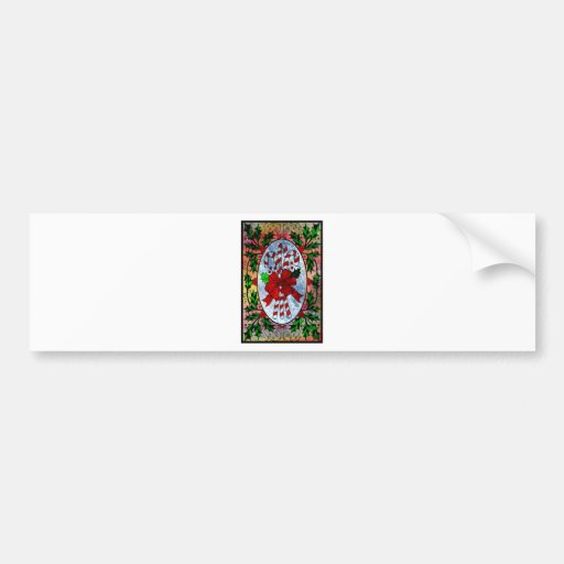 CHRISTMAS CANDY CANES.jpg Bumper Sticker