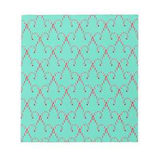 Christmas Candy Canes Notepad