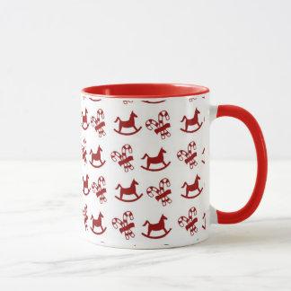 Christmas Candy Canes & Rocking Horses Mug