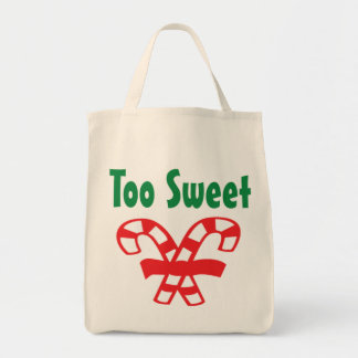 Christmas Candy Canes Tote Bag