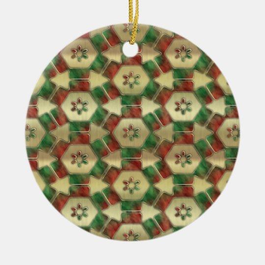 Christmas Candy Ceramic Ornament