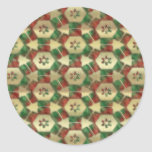 Christmas Candy Classic Round Sticker