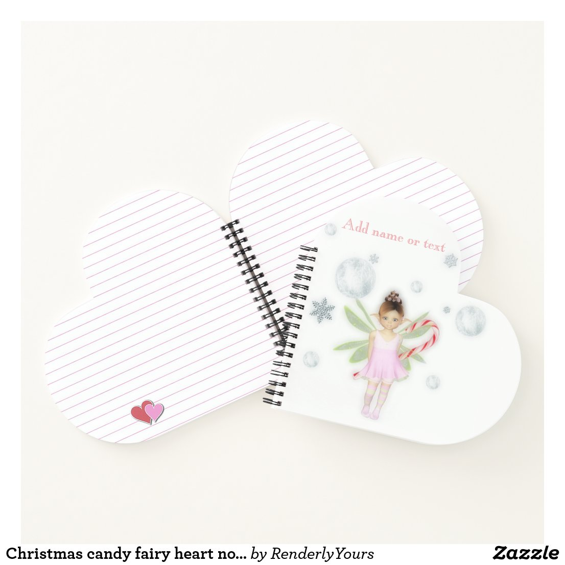 Christmas candy fairy heart notenook notebook
