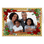 Christmas Candy Garland Photo Greeting with Verse Greeting Cards