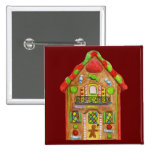 Christmas Candy Gingerbread House Buttons