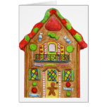 Christmas Candy Gingerbread House Card