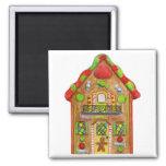 Christmas Candy Gingerbread House Fridge Magnet