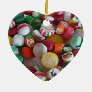 Christmas Candy heart ornament