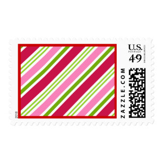Christmas Candy Holiday Postage Stamps