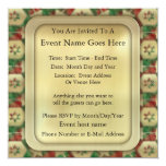 Christmas Candy 5.25x5.25 Square Paper Invitation Card