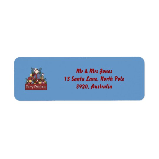 Christmas Candy Label