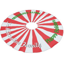 Christmas Candy PERSONALIZE FAMILY NAME Tree Skirt
