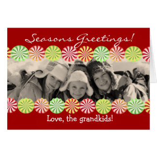 Christmas Candy Photo Card Red