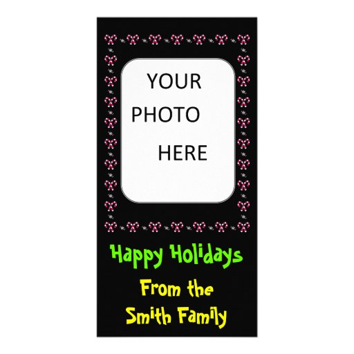 Christmas Candy Picture Frame Family Photo Card