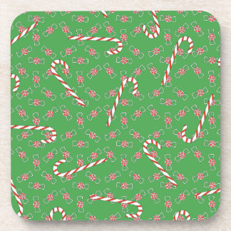Christmas Candy Red And Green Holiday Coaster