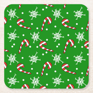 Christmas Candy Square Paper Coaster