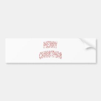 Christmas Candy Stick Car Bumper Sticker