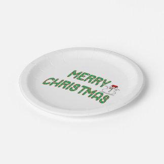 Christmas Candy Sticks Paper Plates
