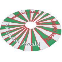 Christmas Candy Stripes YOUR NAME HERE Tree Skirt