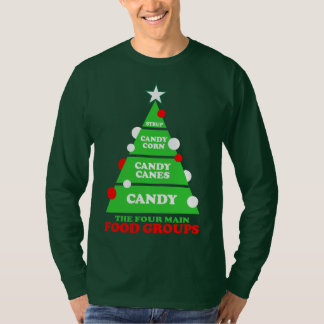 Christmas Candy The Four Main Food Groups T-Shirt